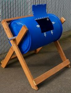 barrel Composter In plastic- could be Stee